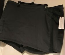 NWT Women's Sonoma Olive Green Mid Rise Faux-Wrap Twill Skort / Shorts  22W