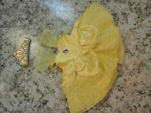 Build-A-Bear DISNEY PRINCESS BELLE COSTUME DRESS & CROWN Teddy Clothes Outfit