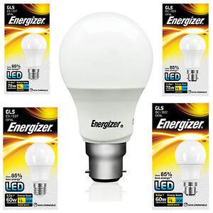 Energizer Energy Saving LED Light Bulb BC B22 ES E27 GLS Globe Daylight Softone