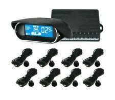 Front and Rear Car Reverse Backup Radar System, 8 Parking Sensors Led Display