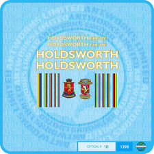 Holdsworth Equipe - Bicycle Decals Transfers Stickers - Gold / White- Set 10