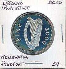 IRELAND 1 PUNT 2000 MILLENNIUM PIEDFORT  -  PROOF SILVER