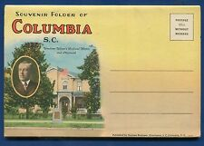 Columbia South Carolina sc #2 linen postcard folder