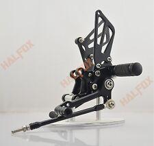 US Black Rearsets Footpegs Rearset For Suzuki Gsxr 600/750 00-05 GSXR1000 01-04