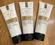 X3 Bath & Body Works AROMATHERAPY PEACEFUL Body Cream Set NEW