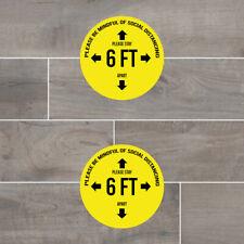 """Social Distancing 11"""" Floor Vinyl Decal Sticker (TWO PIECE)"""