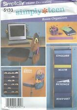 Simplicity 5133 Small Teen Room Organizers  Home Decor Sewing Pattern