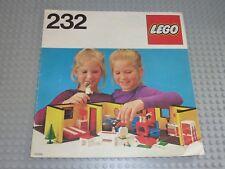 LEGO Vintage Notice de Montage Instruction Set 232-1: Bungalow