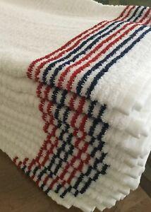 "Tour Caddy Gym Towel 44"" X 22"" Patriot Red/Blue Stripe U.S Golf Towel Ryder Cup"