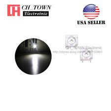 100pcs 5mm White Light Piranha Super Flux Round Top LED Diodes Ultra Bright USA