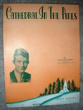 1938 Cathedral In The Pines Vintage Sheet Music by Kenny Johnny Long