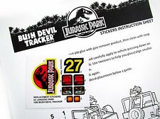 Replacement stickers for Kenner Jurassic Park Bush Devil Tracker Pre-Cut!