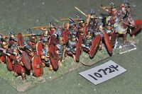 25mm roman era / roman - legionaries 20 figs - inf (10724)