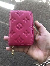 Pink Leather Credit Card Holder