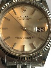 Vintage 1970 Rolex Datejust 1601 36mm  Automatic Watch