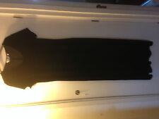 LOVELY VINTAGE BLACK VELOUR STRETCHY LONG DRESS SIZE 16