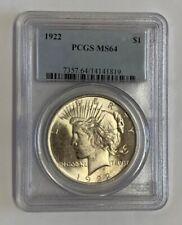1922 Peace Dollar Top 50 Variety VAM 5B Die Break Wing Triple Leaves PCGS MS64