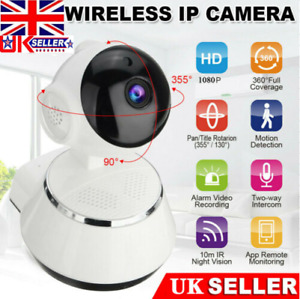 HD 1080P Wireless WIFI IP CCTV Camera Smart Home Security Night Vision Indoor UK