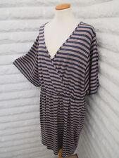 Oversize Tunika Kleid gestreift Shirtkleid streifen Gr 44 46 48 NEU HSE Blogger