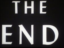 """35mm Film """"THE END"""" Titles in Black & White  *BRAND NEW* 100 feet"""