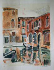LE BOURDELLES Herve- Lithographie originale signée- Venise