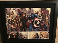 """Stan Lee Signed """"Fear Itself #7"""" Extremely Limited Edition 31x25 Custom Framed"""