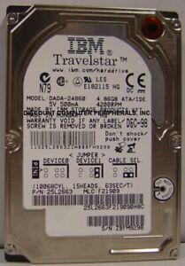 IBM DADA-24860 4.8GB 2.5in 12.5MM Tall IDE 44pin Hard Drive Tested Good