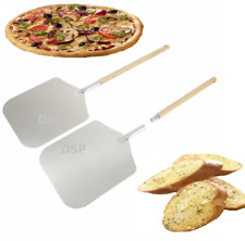 "12x14x25 ""Inch Aluminium Pizza Peel Removable Wooden Handle Bakers Paddle Shovel"