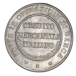REGNO D'ITALIA Gettone con Francobollo CREDITO MERCANTILE ITALIANO 10c