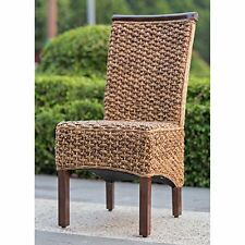 Bunga Hyacinth Dining Chair Set Of 2 Salak Brown New