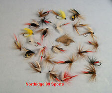 25 Premium Dry Wet Fly Assortment Flies Lures Fishing New