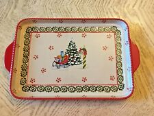Temp-tations  13X9 Old World Ceramic  Platter - Holiday