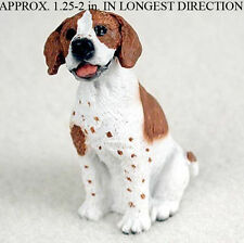 Pointer Mini Resin Hand Painted Dog Figurine Statue Brown/Wht
