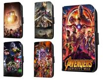 Avengers leather phone case marvel infinity war movie Iphone Samsung HTC LG Sony