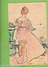 #A.  1911 DRAWN   POSTCARD OF LADY