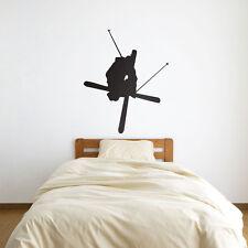 Skier Crossing Skis Vinyl Wall Art Decal for Home Decor / Interior Design / B...