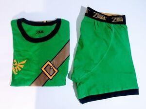 The Legend Of Zelda Men's Large Sleep Set Shirt & Boxers Official Licensed New