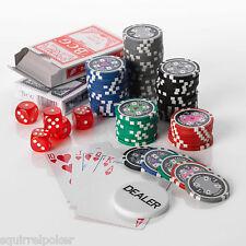 poker set 500pcs, 13.5g Numbered Casino ACE Poker chip Set - Free Cards/dice
