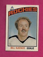 1976-77 OPC # 267 ROCKIES BILL MCKENZIE ERROR GAOLIE ROOKIE GOOD (INV# 9782)