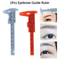 1 Pcs Microblading Reusable Makeup Measure Eyebrow Guide Ruler Permanent To  S