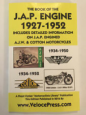 JAP MOTORCYCLE ENGINE MANUAL all 4-STROKE 150cc>1323cc + AJW & COTTON 1927-1952