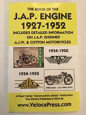 JAP MOTORCYCLE ENGINE MANUAL all 4-STROKE 150cc 1323cc + AJW & COTTON 1927-1952