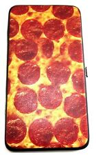 PEPPERONI & CHEESE PIZZA SUBLIMATED ALL OVER PRINT HINGE WALLET FOLDING CLUTCH