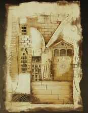 """Original Mixed Media Mono print by Kamy """"Structure"""""""
