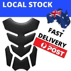 Pure Black Motorcycle Gas Fuel Tank Pad Protector Sticker Decal Decoration