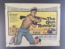 ORIGINAL 1958 THE GUN RUNNERS Half Sheet Movie Poster 22 x 28 Hemmingway STYLE B