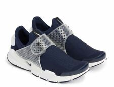 New NIKE Sock Dart KJCRD Midnight Navy Blue Black White Running Shoes Size 10