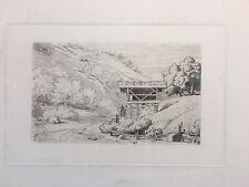 Olevano Romano, Caruelle d'Aligny, Gravure XIXe, Italie, Engraving, Incisione.
