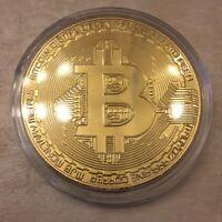 BITCOIN Physical Bitcoin in protective acrylic case FAST SHIPPING!! Novelty Coin