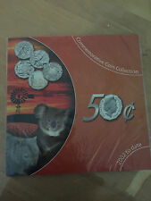 2002 TO 2006 UNC 50c AUSTRALIAN  5 COIN COLLECTION SET
